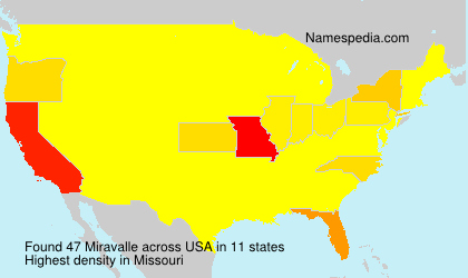 Surname Miravalle in USA