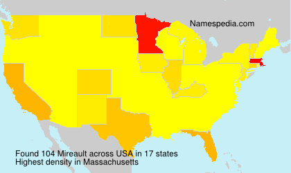 Surname Mireault in USA