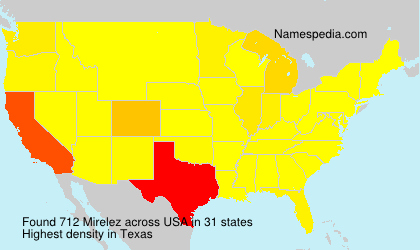 Surname Mirelez in USA