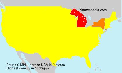 Familiennamen Mirku - USA