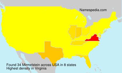 Surname Mirmelstein in USA
