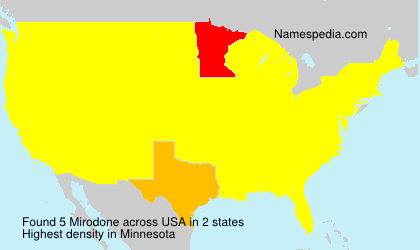 Surname Mirodone in USA