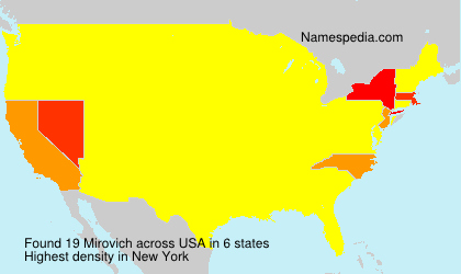 Surname Mirovich in USA