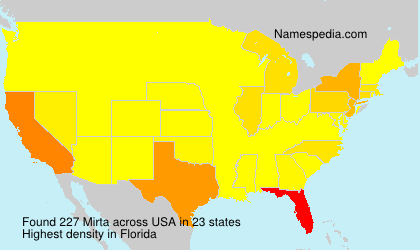 Surname Mirta in USA