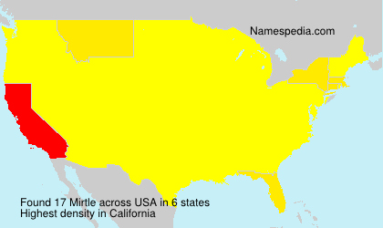 Surname Mirtle in USA