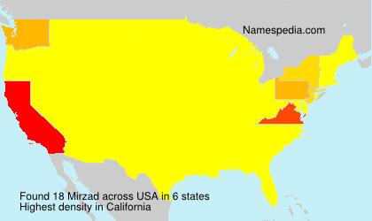 Familiennamen Mirzad - USA