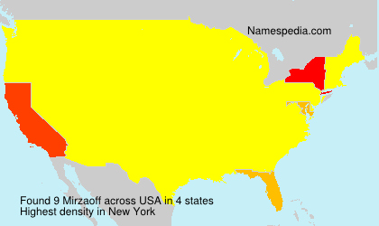 Surname Mirzaoff in USA