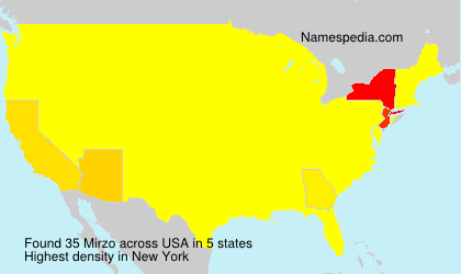 Surname Mirzo in USA