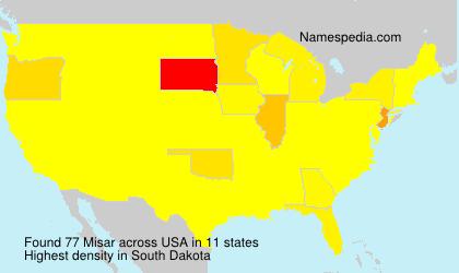Surname Misar in USA