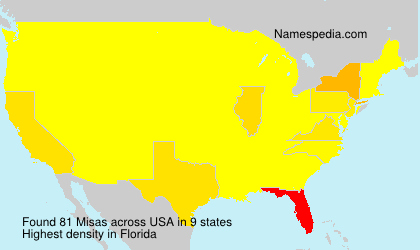 Surname Misas in USA