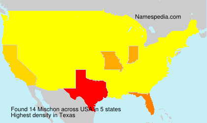 Surname Mischon in USA