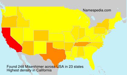 Surname Misenhimer in USA