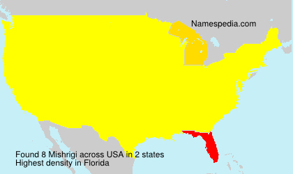 Surname Mishrigi in USA