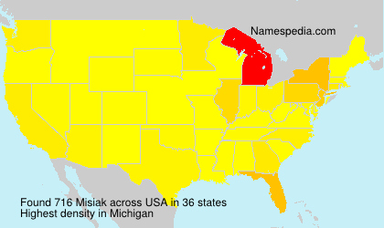 Surname Misiak in USA
