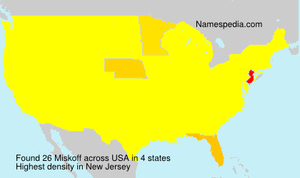 Surname Miskoff in USA