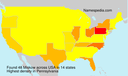 Surname Miskow in USA