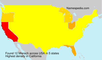 Surname Misrach in USA
