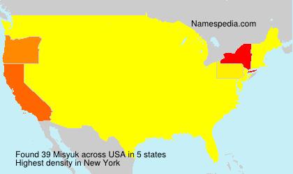 Surname Misyuk in USA