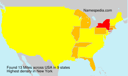 Surname Mites in USA