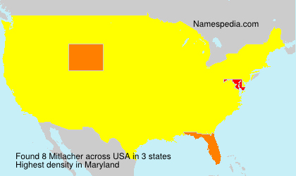 Surname Mitlacher in USA