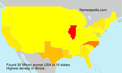 Surname Mitran in USA