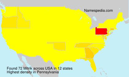 Surname Mitrik in USA