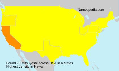 Surname Mitsuyoshi in USA
