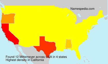 Familiennamen Mittemeyer - USA