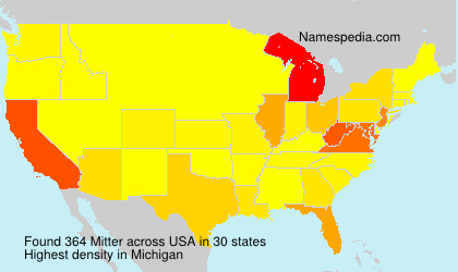 Surname Mitter in USA