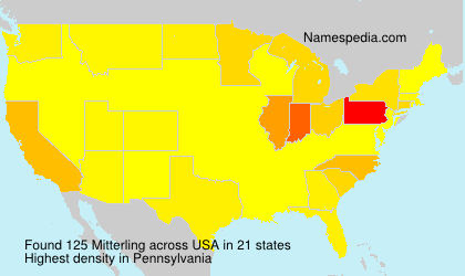 Surname Mitterling in USA