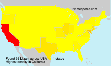 Surname Mizani in USA