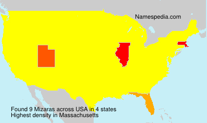Surname Mizaras in USA
