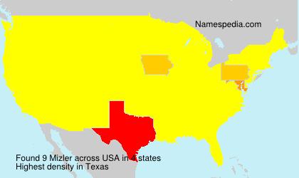 Familiennamen Mizler - USA