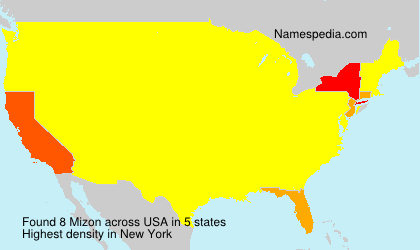Surname Mizon in USA