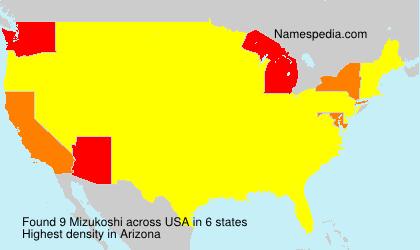 Surname Mizukoshi in USA