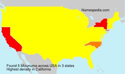 Familiennamen Mizunuma - USA
