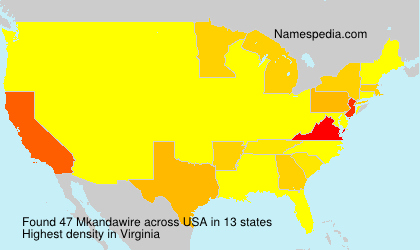 Surname Mkandawire in USA