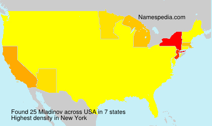 Surname Mladinov in USA
