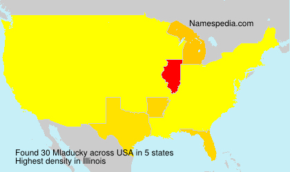 Surname Mladucky in USA
