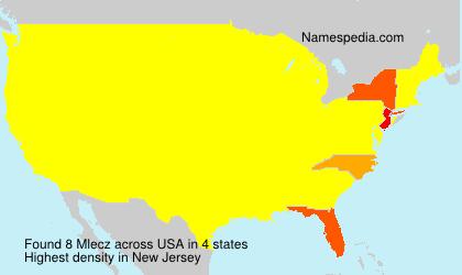 Familiennamen Mlecz - USA