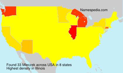 Surname Mleczek in USA