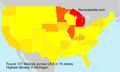 Surname Mlejnek in USA