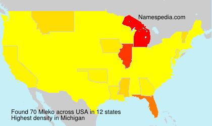 Surname Mleko in USA