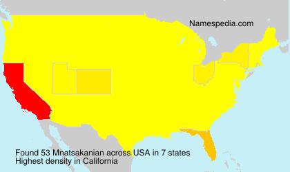 Surname Mnatsakanian in USA