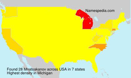 Surname Mnatsakanov in USA