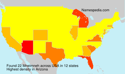Surname Mneimneh in USA