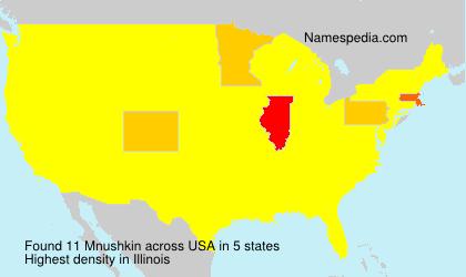 Surname Mnushkin in USA