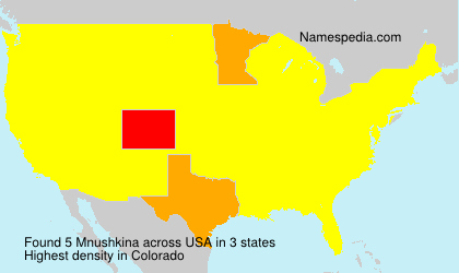 Surname Mnushkina in USA
