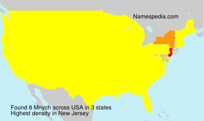Surname Mnych in USA