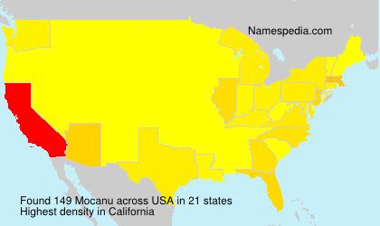 Surname Mocanu in USA
